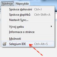 Spouštění Selenia IDE